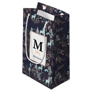 Glow in the dark tribal boho pattern small gift bag