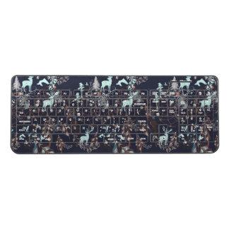 Glow in the dark tribal boho pattern wireless keyboard