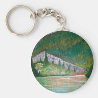 Glow Of The Lake Basic Round Button Keychain