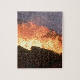 glow of volcanic fire jigsaw puzzle
