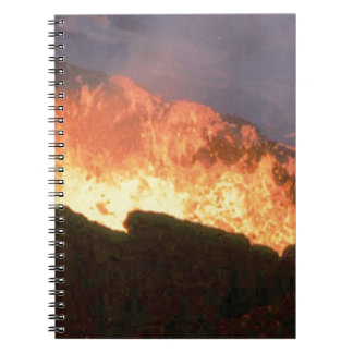 glow of volcanic fire notebooks