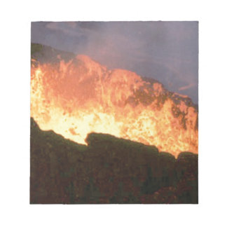 glow of volcanic fire notepad