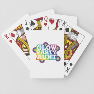 Glow Party Birthday Party Aunt Funny Gifts Playing Cards