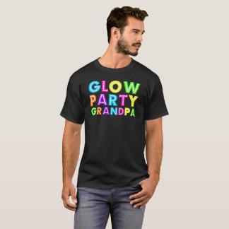 Glow Party Grandpa gift Tee