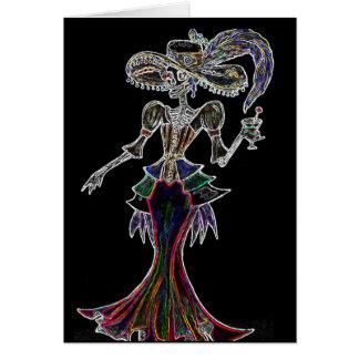 Glow Steampunk Catrina / Dia de los Muertos Card