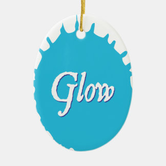 GLOW with happiness! Ceramic Oval Ornament