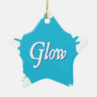 GLOW with happiness! Ceramic Star Ornament