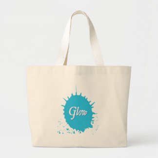 GLOW with happiness! Large Tote Bag