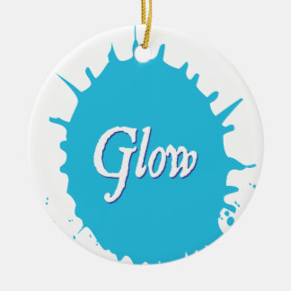 GLOW with happiness! Round Ceramic Ornament