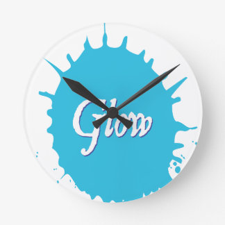 GLOW with happiness! Round Clock