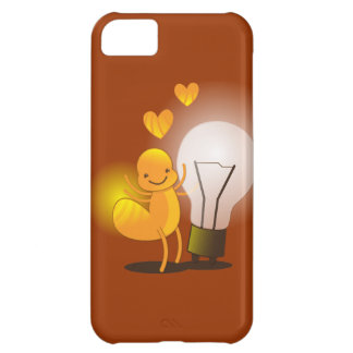 Glow Worm! with a light globe super cute! iPhone 5C Covers
