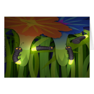 Glow Worms at Night Card