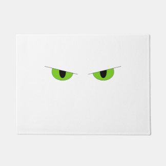 Glowering Cat Eyes Door Mat