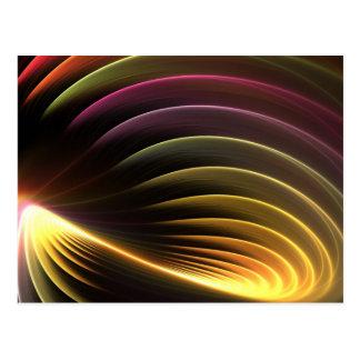 Glowing Abstract Fractal Vortex Postcard