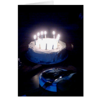 Glowing Birthday Cake Card