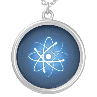 Glowing Blue Atom Necklace