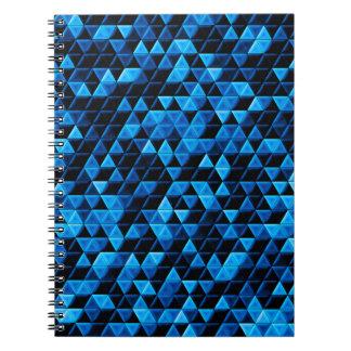 Glowing Blue Tiles Notebook