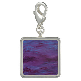 Glowing Blue Water, Purple Waves - Charm