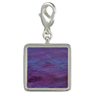 Glowing Blue Water, Purple Waves - Charm