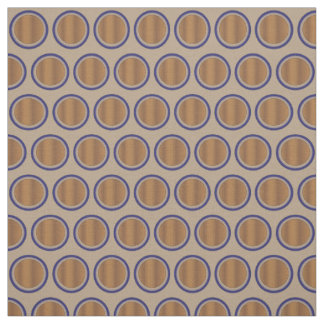 Glowing Brown and Blue Cotton Fabric