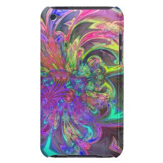 Glowing Burst of Color – Teal & Violet Deva iPod Touch Case-Mate Case