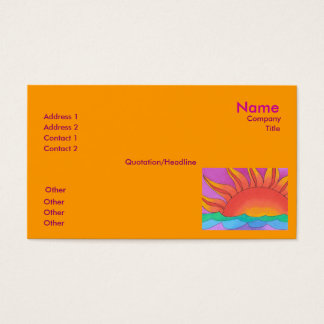 Glowing Business Card Template