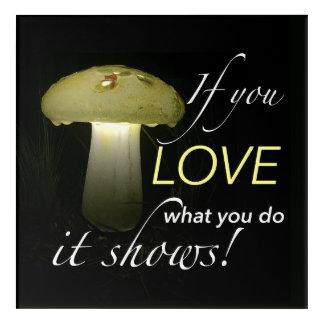 Glowing Ceramic Solar Mushroom Inspiration Acrylic Print