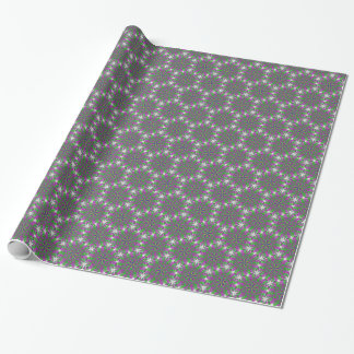 Glowing chains on purple kaleidoscope wrapping paper