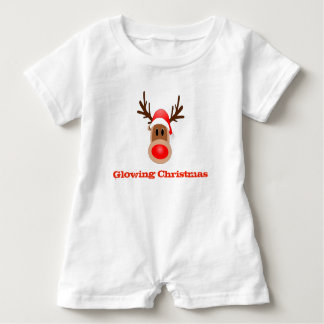 Glowing Christmas Stocking Baby Shirt