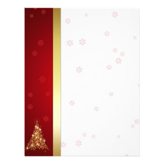 Glowing Christmas Tree - Stationery Letter Paper Letterhead Template