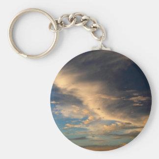 Glowing clouds basic round button keychain