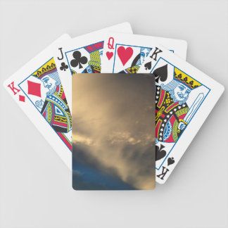 Glowing clouds bicycle playing cards