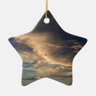Glowing clouds ceramic star ornament