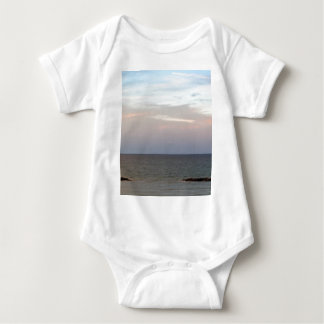 Glowing clouds over the Adriatic Sea in Italy. Baby Bodysuit