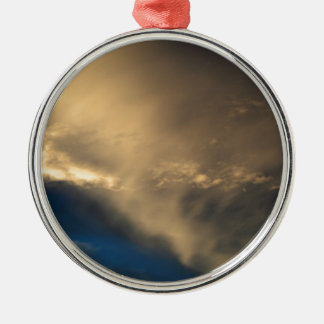 Glowing clouds Silver-Colored round ornament