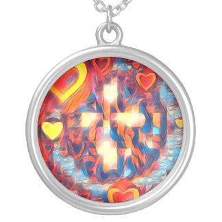 Glowing Cross of Love Round Necklace