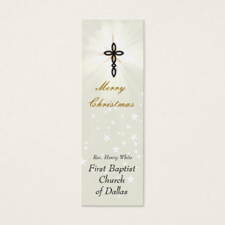 Glowing Cross Religious Business Card