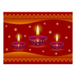 Glowing Decorative Lamps Poster