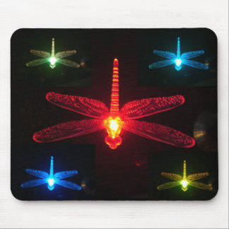Glowing Dragonflies Mouse Pad