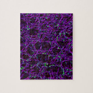 Glowing Edges Abstract Patterns Digital Art Blank Jigsaw Puzzle