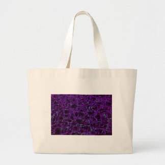 Glowing Edges Abstract Patterns Digital Art Blank Large Tote Bag