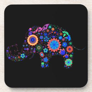 Glowing Elephant Drink Coasters