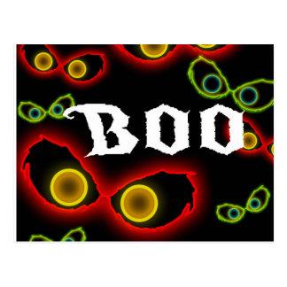 Glowing Eyes Boo! Halloween Customizable Postcard