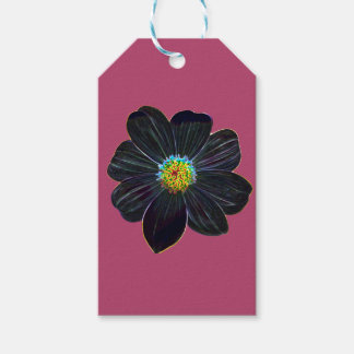 Glowing flower gift tags