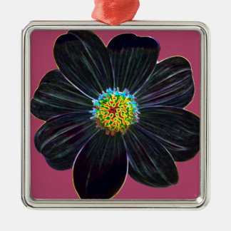 Glowing flower metal ornament