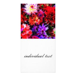 glowing flowers (C) Custom Photo Card