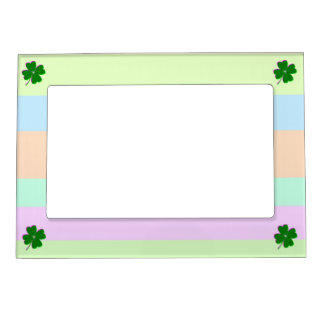 Glowing Four Leaf Clover Magnetic Frame