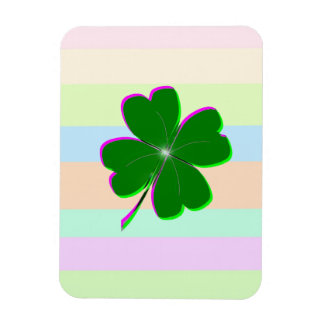 Glowing Four Leaf Clover Rectangular Photo Magnet