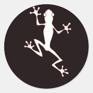 Glowing frog classic round sticker