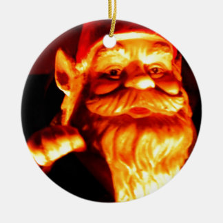 Glowing Gnome Round Ceramic Ornament
